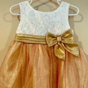 Baby Girl Youngland Glitter Dress, Size: 24 Months